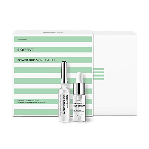 BIOEFFECT Power Duo of EGF Serum and EGF Eye Serum in a Skincare Gift Set, Wrinkle Fighting, Moisturizing, Firming, Anti-Aging Treatments for Face and Eyes featuring Barley Growth Factor