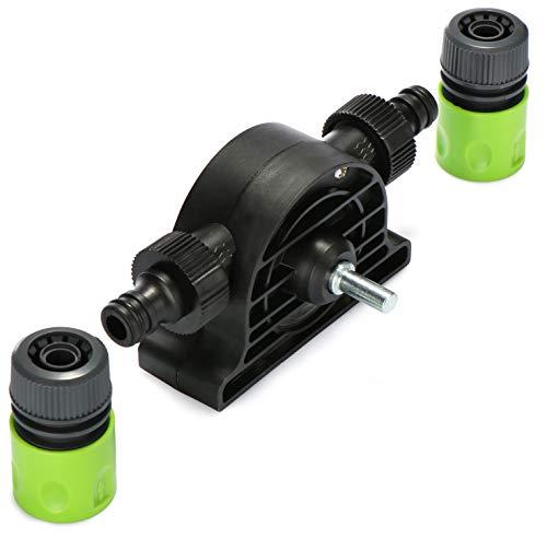 com-four® Bohrmaschinen-Pumpe im Kunststoffgehäuse, leistungsstarke Wasserpumpe als Pumpe für Garten, Keller, Garage oder zum Auspumpen von Regen-Wassertank, Wasserbetten