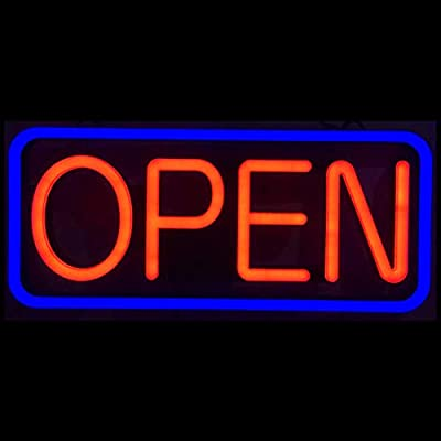 LED Business Advertisement Open Sign - Electric Display Store Sign,24 x 12 inch (Larger Size) Steady Light for Business Storefront, Walls,Shop Window,Bar Inksilvereye N/A