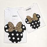 PACK Camisetas MINNIE + lazo animal print | MICKEY + pajarita animal print