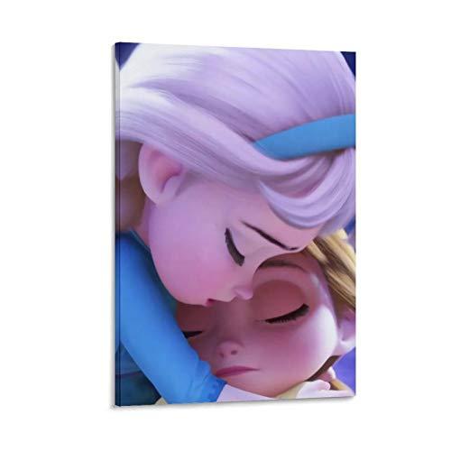 NUOMANAN Fotos de pared de Frozen Fantasy Adventure of the Snow Princess de 40 x 60 cm, lienzo para decoración del hogar, decoración de pared sin marco