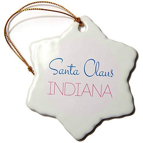 Santa Claus, Indiana Decorative Text Of Blue, Red Colors On White Christmas Ornaments for the Home 2019 for Women Friends Kids Christmas Tree Ornament