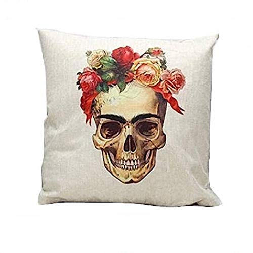 Cuscino Skull Frida KahloTeschio messicano