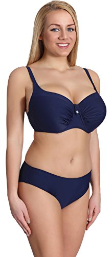 Merry Style Damen Bikini Set P190-69MIX (Dunkelblau, Cup 85 D/Unterteil 42)