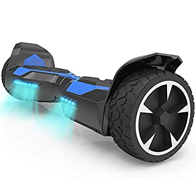 """Hoverboard Two-Wheel Self Balancing Electric Scooter 8"""" Hummer Auto Self Balancing Wheel Electric Scooter with Built-in Bluetooth Speaker UL 2272 Certified (Navy/Black)"""