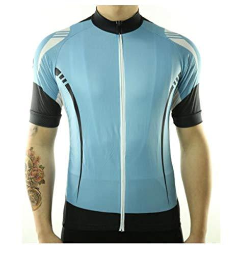 Maillot Ciclismo Hombre - Verano Manga Corta Color Sólido Impresión De Gran Tamaño Top Shirt Quick Dry MTB Bicicleta Ropa Ropa Usar Ropa para Ciclismo Racing Mountain Sportswear,Azul,4XL