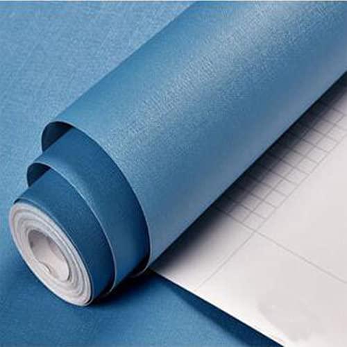 KaiKBax Papel pintado autoadhesivo impermeable azul – Pegatinas de pared extraíbles para dormitorio, sala de estar, mostrador, armario de 24 × 50 cm