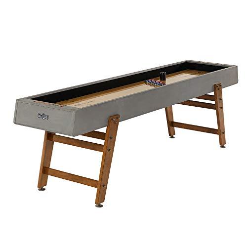 Hall of Games Kinwood 9ft Shuffleboard Table, Grey/Tan