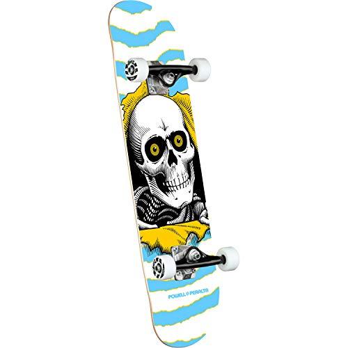 Powell Peralta Skateboard Complete Ripper Mini, Größe:7.5, Farben:one Off-lightblue