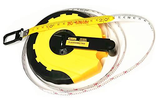 Herran Cinta métrica de 20 metros de cinta en rueda de 20 m x 14 mm. Medida en pulgadas y mm. Peso: 404 g.