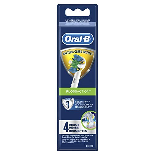 Oral-B FlossAction Replacement Electric Toothbrush Head, 4ct