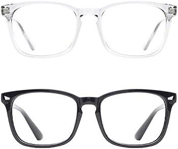 2-Pack TIJN Blue Light Blocking Nerd Computer UV Protection Glasses