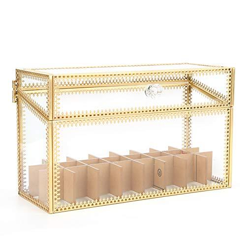 Zer one1 Caja de Almacenamiento de acrílico del Maquillaje de la Caja de presentación del Maquillaje de la Caja de la joyería de la decoración casera, Oficina Transparente para el hogar