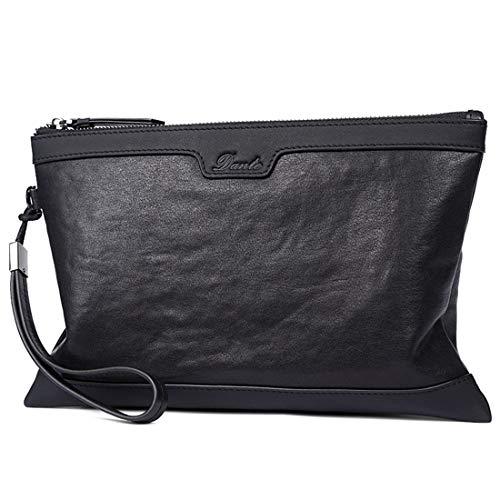 Confortable Sacoche Grande capacité for Homme, enveloppe, Cuir, Portefeuille, Pochette Élégant (Couleur : Noir)