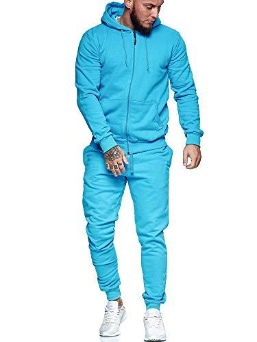 OneRedox | Herren Jogginganzug | Streetwear | Fitness | Sportanzug | Hoodie-Sporthose | Jogging-Anzug | Trainings-Anzug | Jogging-Hose | Modell JG-5000ST Türkis XL