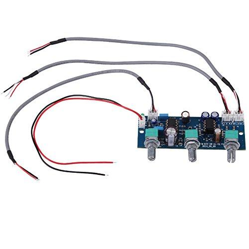 DEWIN Tiefpassfilter - NE5532 Subwoofer-Filter, Vorverstärker-Vorverstärkerplatine, für 2.1-Kanal-Subwoofer, 1St