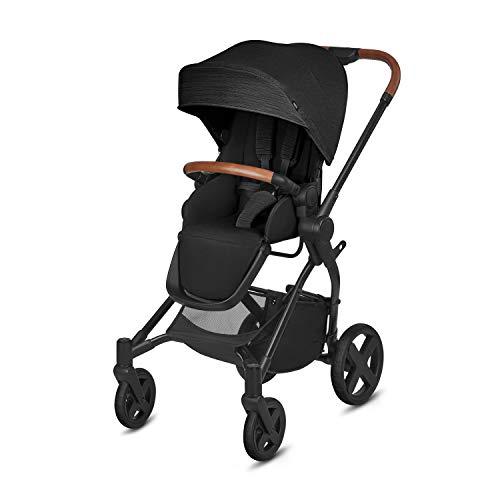 cbx Kinderwagen Kody Lux mit wendbarem Sportsitz, Mit Details in Leder-Optik, Inkl. Regenverdeck, Ab Geburt bis 15 kg, Smoky Anthracite