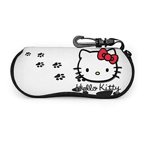 Funda Gafas De Sol Dibujos De Hello Kitty Gafas De Sol Estuche Súper Ligera Estuche Para Las Gafas Con Mosquetón Hombres Mujeres Estuche Para Gafas Unisex Funda Portátil Caja Para Gafas De Sol
