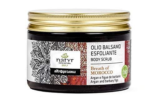 Peeling corporal orgánico con aceite de argán y pera espinosa reafirmante y vigorizante cosméticos orgánicos italianos Natyr - Fair & Natural 150ml