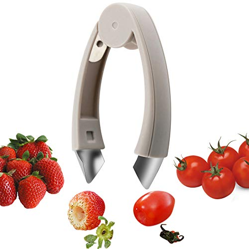 LIANGKEN Strawberry Huller Stem Remover Potato Corer Pineapple Corer Tomato Corer Fruits and Vegetables Eye Peeler Stainless Steel Huller Portable Kitchen Gadget