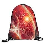 uykjuykj Bolsos De Gimnasio,Mochilas,Invasion of Unknown Sackpack Drawstring Backpack Waterproof Gymsack Daypack Especial Shining6 Lightweight Unique 17x14 IN