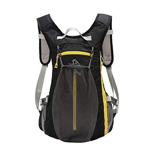 PELLIOT Bike Backpack, 20L Waterproof Cycling Bicycle Rucksack, Breathable Lightweight and Wear-resisting Running Backpack for Hiking Climbing Camping Skiing Trekking-Black