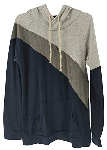 Womens Maternity Nursing Top Sweatshirt Long Sleeve Patchwork Zipper Pullver Top...