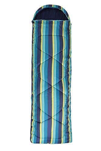 Mountain Warehouse Saco de Dormir Tipo Rectangular Apex 250 - Saco de Acampada con Cremallera bidireccional, Saco de Dormir Ligero - Ideal para Acampada, Invitados Monteado Talla única