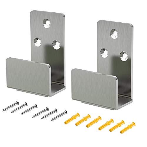 Guía de piso de puerta corredera de granero de acero inoxidable ajustable para piso de armario para la parte inferior de las puertas correderas, montaje en pared, puerta de granero, guía inferior