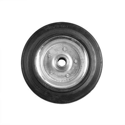 Roue Jockey pour Remorque Metal Caoutchouc 200 Alésage 20mm