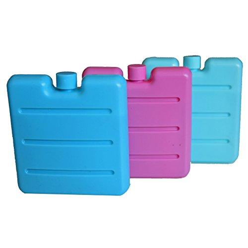 all-around24 Kleine Kühlakkus für die Brotdose Lunchbox Mini Kühlelemente für Kühltasche Kühl-Akku (3 Stück)