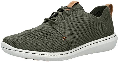 Clarks Herren Step Urban Mix Sneaker, Grün (Khaki), 47 EU
