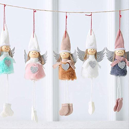 GIAO Figurines Adornos Figurines Decoración Adornos navideños, Adornos navideños, muñecos de Felpa, ángeles creativos, pequeños Colgantes, pequeños Adornos de Regalo