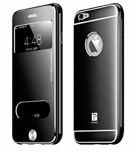 『isp iPhone 6 Plus / 6s Plus 開閉式 スリーブケース + ispロゴ入りオリジナルクロスセット ブラック』のトップ画像