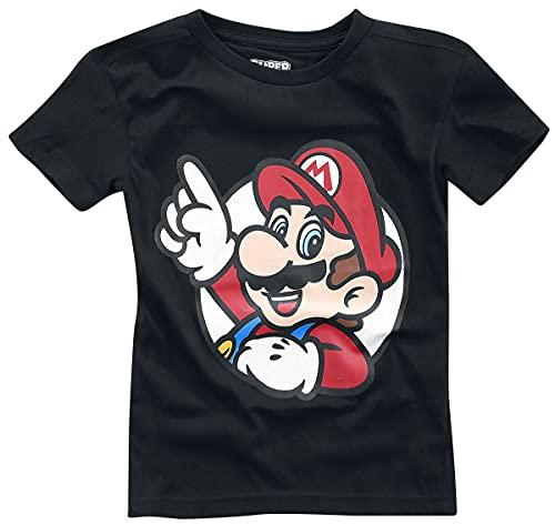 Super Mario It's A Me Kinder & Babies T-Shirt schwarz 134/140
