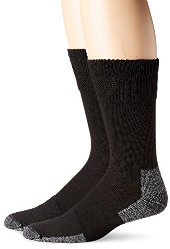 Dr. Scholl's mens Premium Diabetic and Circulatory Crew Casual Sock, New Black, Shoe Size 7-12 US