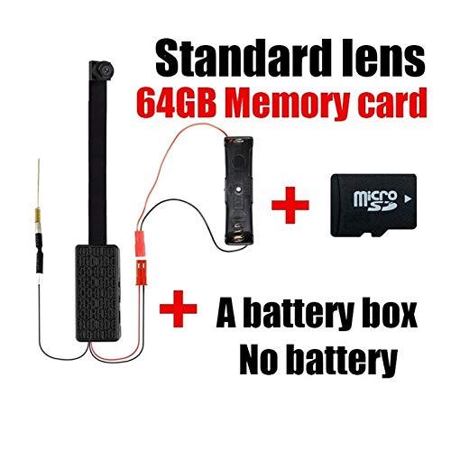 Mini módulo de cámara IP 4K WIFI DV 1080P P2P cámara grabadora de vídeo de seguridad para el hogar Mini videocámara control remoto oculto polea (color: estándar añadir 64GB)