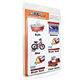 SchKIDules 93 Pc Home Collection Combo Pack for Visual Schedules, Daily Routines and Behavior Charts: 72 Home-Themed Activity Magnets Plus 21 Headings Magnets
