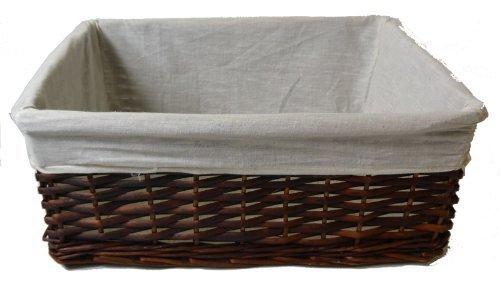 RZZ Wicker Basket Lined Dark Brown (large)