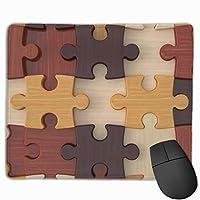 (マウスパッド)ジグソー長方形滑り止めラバーゲーミングマウスパッド、マウスマット、マウスパッドMP販売、30x25 cm /11.8x9.8インチ