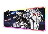 Mouse Pads Anime Gundam Computer Keyboard Mat RGB Robot LED Glowing Gaming...