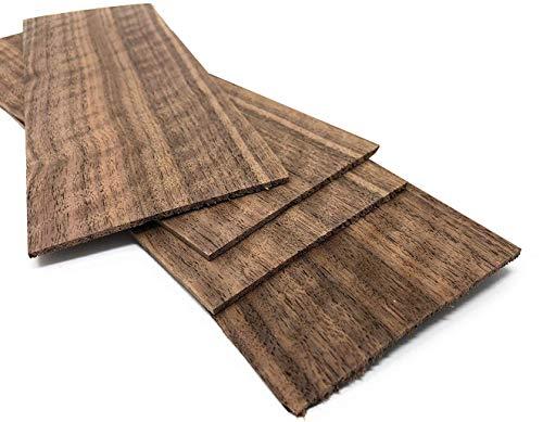 4-5 Furniere in der Holzart Nussbaum 2,4mm; Gesamtmenge: 0,2qm; Edelfurnier Echtholz Holzplatte geeignet für: Modellbau, Foto, als Bastelholz, Preisschilder Holzfurnier zum Basteln Intarsien DIY