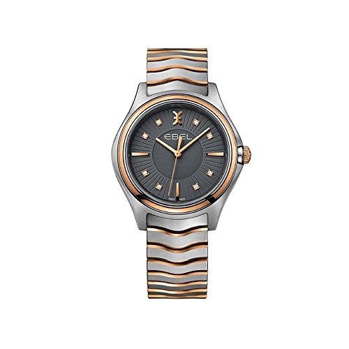 Ebel Damen Datum klassisch Quarz Uhr mit Edelstahl Armband 1216309