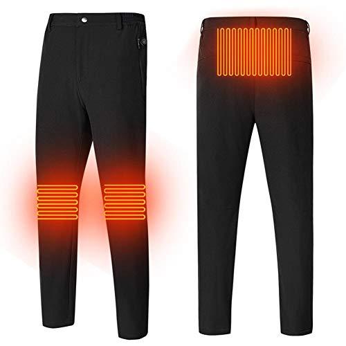 Beheizte Hose für Männer, Waschbare USB Intelligent Thermostat Knie warme Hose, 3-Gang-Temperaturanpassung Winter Heizung Hose für Outdoor Reisen Motorsport Radfahren Skifahren