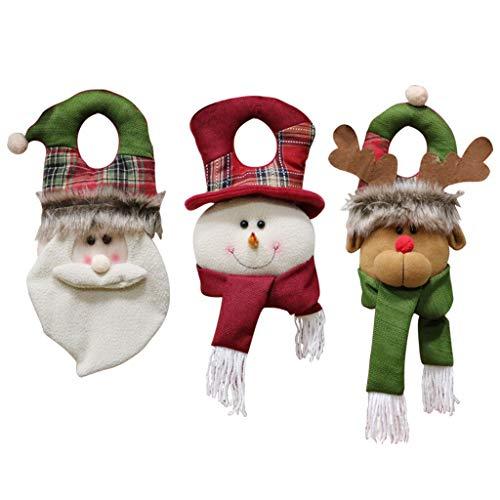 Año Nuevo Puerta de Navidad Colgando decoración de la Ventana aldaba Colgando Adornos Suministros de Vacaciones 3pcs