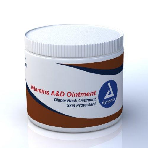 Dynarex Vitamin A&D Ointment, 15 oz. jar, 12/Cs