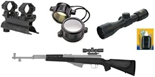 Ultimate Arms Gear Tactical 4x30 Scope Package + SKS See Through Rifle Scope Mount + Advanced Technology ATI SKS Monte Carlo Stock Combo Kit