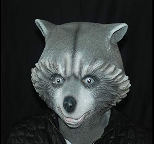 Gruselige Vollgesichtsmaske Bär,Hund Bär Gesicht Latex Maske,Für Halloween Weihnachtsfeier Cosplay Tier Streich Prop Phantasie Kostümdekorationen Spielzeug