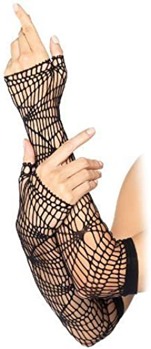 solo para ti Leg Avenue Distressed Net Arm Arm Arm Warmers (negro) by Leg Avenue  Entrega rápida y envío gratis en todos los pedidos.