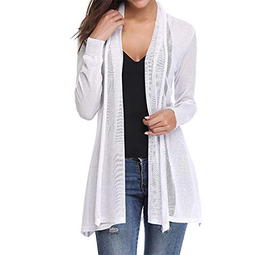 Jackets Women T Shirts Lightweight Breathable Long Sleeve Open Front Waterfall Cardigans Outdoor Sports Hiking Tops Autumn New Sweatshirt Fashion All-Match Party Bluse Tops M